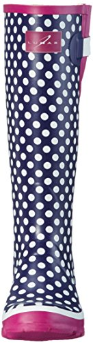 Lunar Polka Dot, Women's Knee Lenght Boots Purple (Purple)