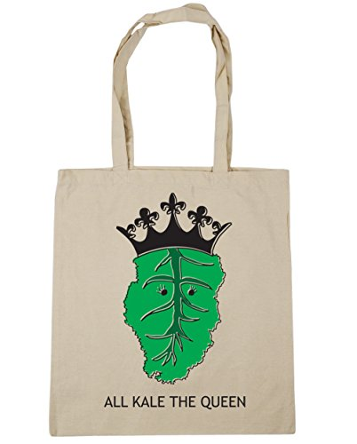 Natural Tote The 10 All litres 42cm Shopping x38cm Kale HippoWarehouse Queen Beach Gym Bag wxUnOIPqEp