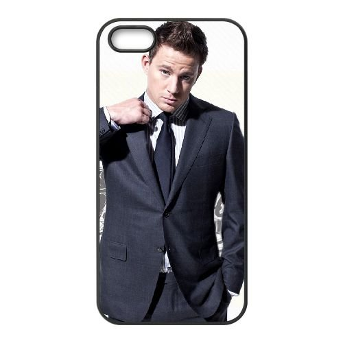 Channing Tatum 002 coque iPhone 5 5S cellulaire cas coque de téléphone cas téléphone cellulaire noir couvercle EOKXLLNCD22724