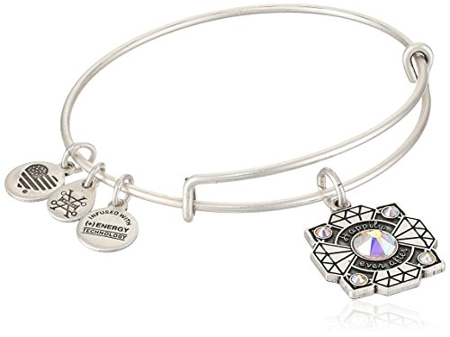Alex and Ani Womens Bride EWB Bangle Bracelet, Rafaelian Silver, Expandable]()