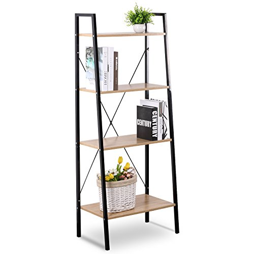 WOLTU Heavy Duty 4 Shelf Shelving Unit Wood BookCase