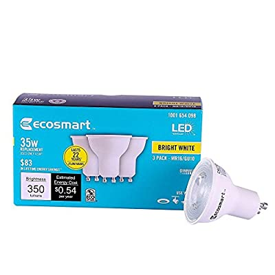 35W Equivalent Bright White MR16 GU10 Dimmable LED Light Bulb (3-Pack) 1001654098