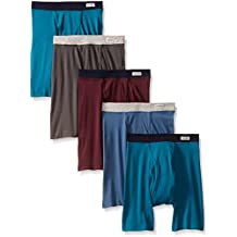 Fruit of the Loom Men`s 5pk Soft Covered Waistband Boxer Briefs