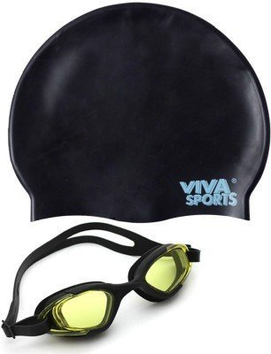 87461e057b Buy Viva Sports Viva 130   Silicone Cap Swimming Kit (Black) Online ...