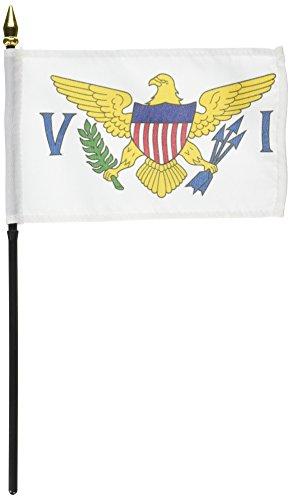 US Flag Store U.S. Virgin Islands 4in x 6in Flag