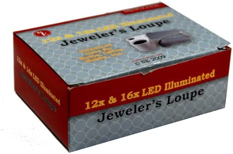 16x Illuminated Dual Lens Jewelers Loupe SE 12x MJ362242L
