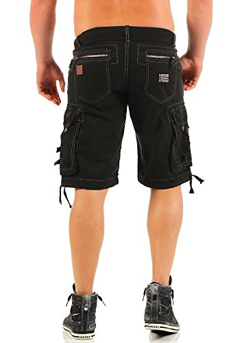 Pelegrino Pantalon Shorts Norway Black Basic Cargo Noir Hommes Geographical Men qwpXISq