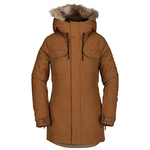 (Volcom Women's Shadow Insulated Snow Jacket, Copper, Large)