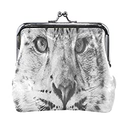 Coin Purse Funny Winter Snow Leopard Animal Womens Wallet Clutch Bag Girls Small Purse