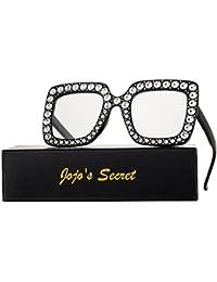 Crystal Brand Designer Oversized Square Sunglasses For...