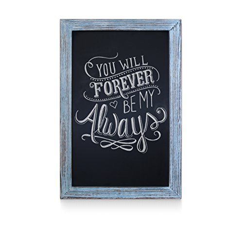 Rustic Blue Magnetic Wall Chalkboard, Extra Large Size 20