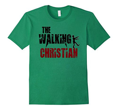 Christian Grey Costume Halloween (Mens Christian Jesus Christ gift t shirts, Religion walking God XL Kelly Green)
