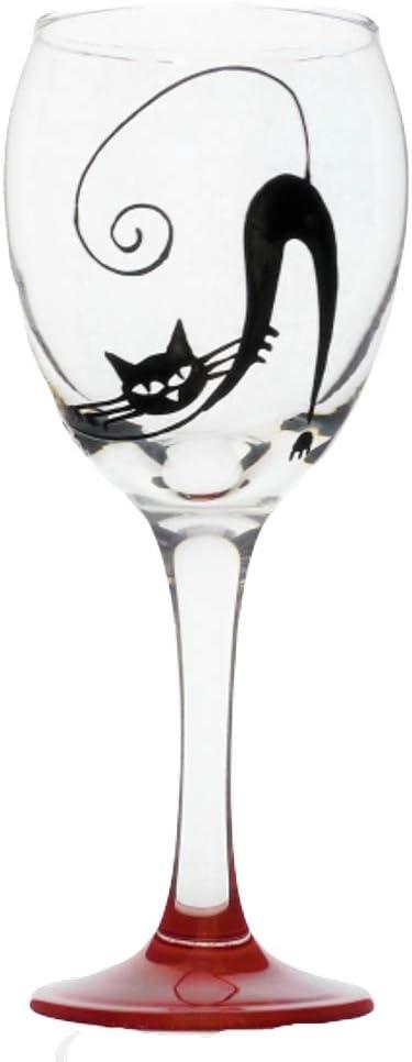 Memories-Like-These UK - Copa de vino para gato (325 ml), diseño de gato negro: Amazon.es: Hogar