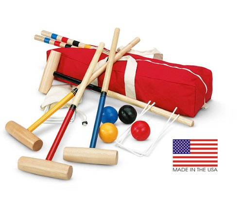 Bar Harbor 4 Player Croquet Set by North Meadow Croquet