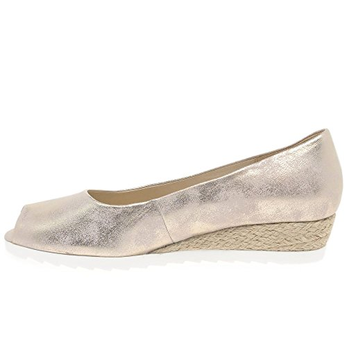 Gabor Damen Comfort Sport Pumps PLATINO POWDER METALLIC