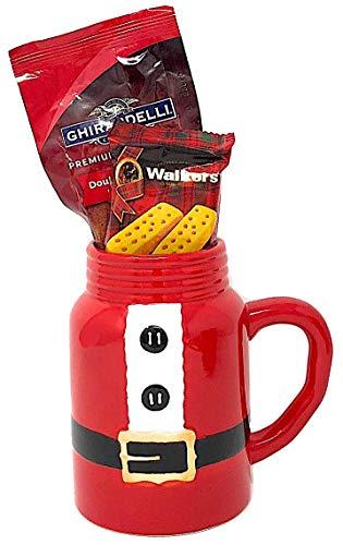 Red Cocoa (Gift Set Christmas Santa Coffee Mug Mason Jar Cookie Hot Cocoa Gift Thank You Holiday (3 Items))