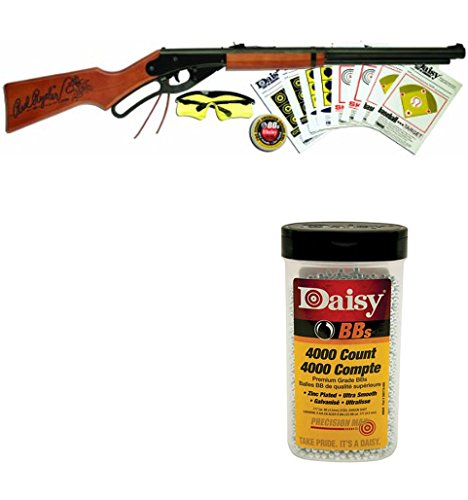 Bundle Includes 2 Items - 1107803 Daisy Red Ryder Shooting Fun Starter Kit 35.4'' Length and Daisy 980040-446 .177 Caliber BB's, 4.5-Milimeter, 4000-Count by Unknown