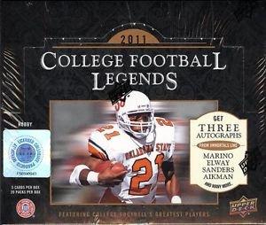 (2011 Upper Deck NCAA College Legends Football HOBBY box )