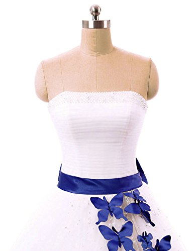 Perles Ivoire De Formelle Soirée Bal Quinceanera Longue Robe amp; Femme Vantexi Bleu Robes Mariée qP8fCSBn