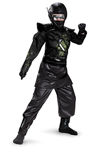 Combat Operative Recon Expedition Ninja Alien Warrior Deluxe Boys Costume, 7-8 - Deluxe C O R E Ninja Costumes