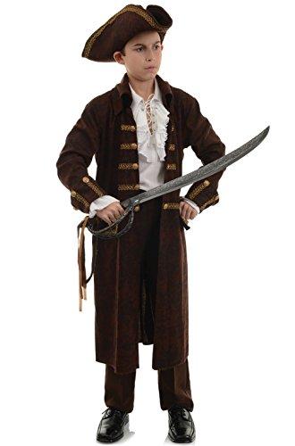 [Mememall Fashion Deluxe Pirate Captain Treasure Boys Boys Child Costume (Brown)] (Captain Flint Costume)