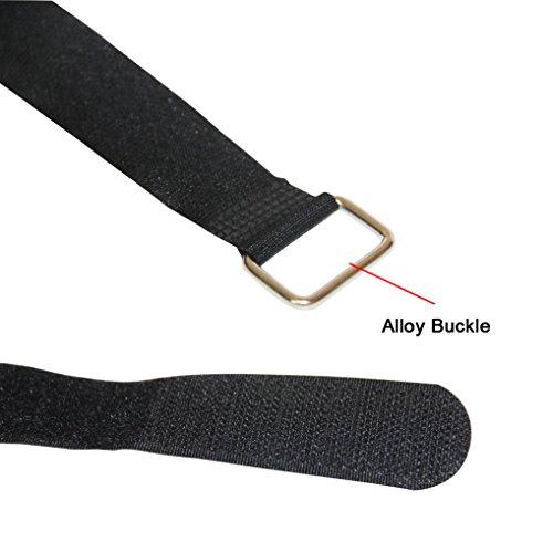 L Black  Reusable Tie Strap  2 pk One-Tie  14 in