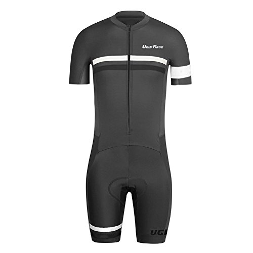 Uglyfrog 2016 New Men's Breathable Summer Skinsuit Short Sleeve Cycling Kit With Gel Pad Outdoor Sports Wear Triathon Clothing - Sleeve Skinsuit Short