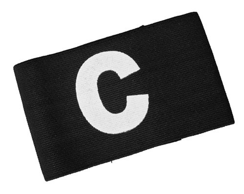 Diamond Football Company Kids Junior Captains Small Elasticated Armband Black