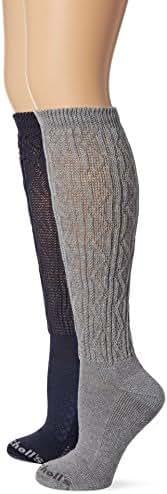 Dr. Scholl's Women's Diabetic and Circulatory Texture Knee-Hi 2 Pack Sock