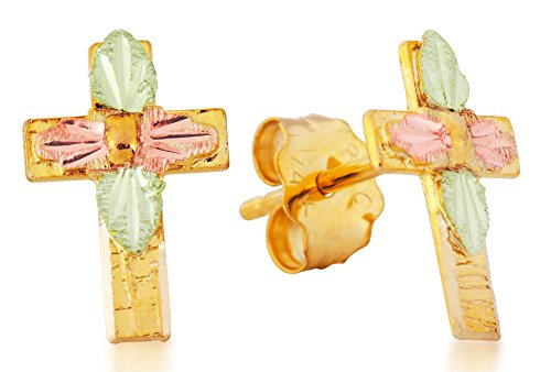 Gold Cross Earrings (childs) by Black Hills Gold Jewelry