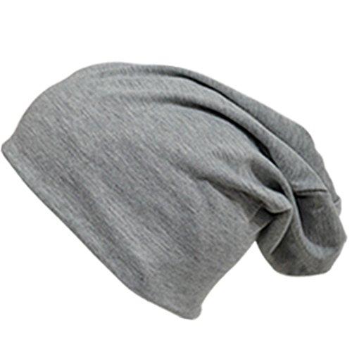 easy4fashion - Gorro de punto - para hombre gris claro
