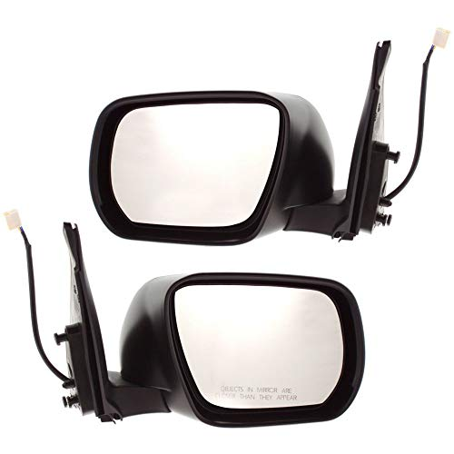 - Power Mirror compatible with Suzuki Grand Vitara 06-13 Right and Left Side Manual Folding Non-Heated Paintable