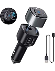 Fahrzeug Bluetooth Ausrüstung, HiGoing Bluetooth Adapter V4.2 Auto Ladegerät mit 5V/4.8A 2-USB-Anschlüsse und Freisprecheinrichtung, KFZ Kit mit 3.5mm Aux Audio für Lautsprecher/Heim Stereoanlage