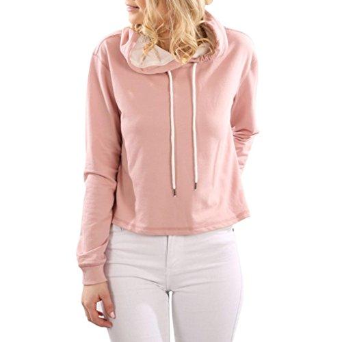Sweatshirt, Femmes Sweat à capuche Pull capuche Tops Blouse Rose