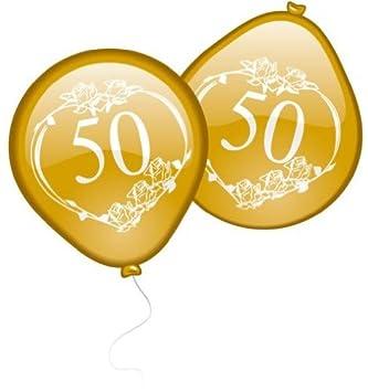 Luftballons Goldene Hochzeit Amazon De Kuche Haushalt