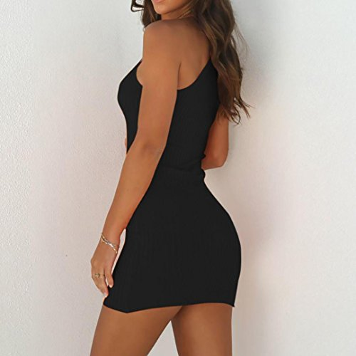 Sexy Solide Zha sans Robes Manches Noir Robe Ba Femme New Moulante Serr t Courte Slim Courte Robes Mini Hei Crayon de 2018 Fte Mini Femmes Confortable Casual Robe B4vqwBZT