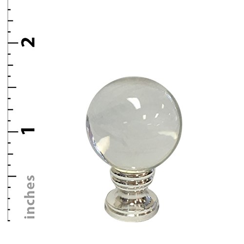 Royal Designs Clear Crystal Ball Lamp Finial with Polished Silver Base by Royal Designs, Inc (Image #4)