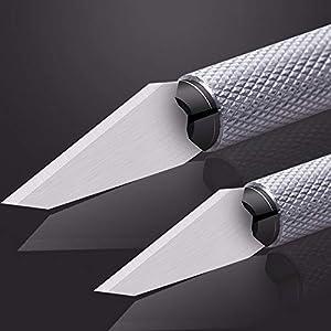 DIYSELF Exacto Knife Upgrade Precision Carving Craft Knife Hobby Knife Exacto Knife Kit 40 Spare Exacto Knife Blades for Art, Scrapbooking,Stencil (Tamaño: exacto knife kit)
