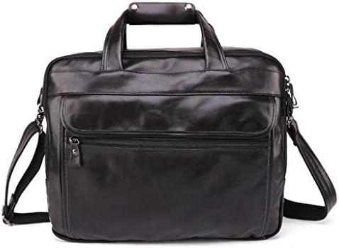 レザーメッセンジャーバッグ, 15.6 学校のためのインチのラップトップ袋のブリーフケースコンピュータ箱のショルダー・バッグ,ビジネス,女性と男性