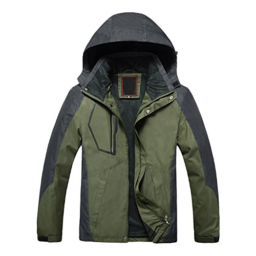 Limited Snowboard Jacket (Deylaying Men's Hooded Ski Wear Jackets Windproof Waterproof Warm Snowboard Snowsuit Coat Color Dark Green)