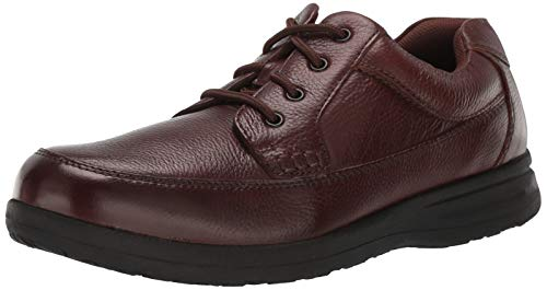 Nunn Bush Men's Cam Oxford Casual Walking Shoe Lace Up, Brown Tumbled, 12 Wide