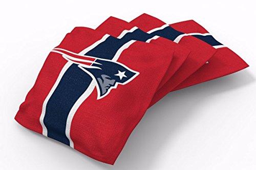 PROLINE 6x6 NFL New England Patriots Cornhole Bean Bags - Stripe Design (B) - Nfl Team Bean Bag