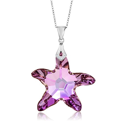 Nirano Collection Vitrail Starfish Pendant Created with Swarovski Crystals