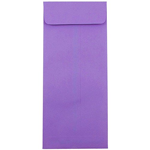 Wisteria Natural Hues Natural - JAM PAPER #14 Policy Business Colored Envelopes - 5 x 11 1/2 - Violet Purple Recycled - 25/Pack