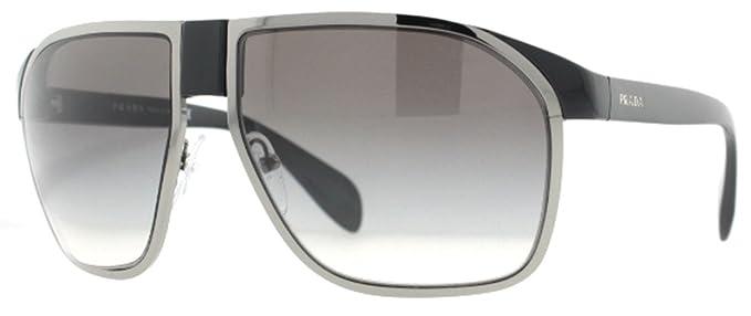 Amazon.com: Prada anteojos de sol SPR 21p Grey 1 ab-0 a7 ...
