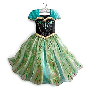 Disney Princess Anna from Frozen Deluxe Fancy Dress Costume for Kids - Girls size 5  sc 1 st  Amazon UK & Disney Princess Anna from Frozen Deluxe Fancy Dress Costume for ...