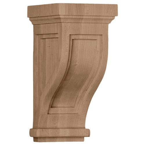Traditional Corbel - Ekena Millwork COR04X05X10TRRO 4 3/4-Inch W x 5-Inch D x 10-Inch H Traditional Recessed Corbel, Red Oak