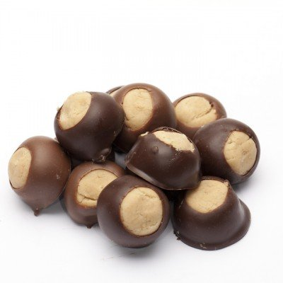 Chocolate Walleye (Buckeye) 1/2 Lb Box Milk Chocolate