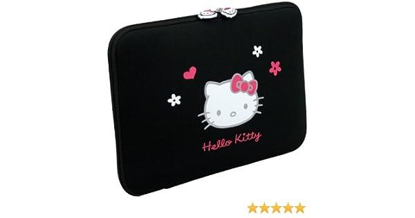 Hello Kitty HKFO016 - Funda de neopreno para ordenadores portátiles de 13 pulgadas, color negro: Amazon.es: Informática