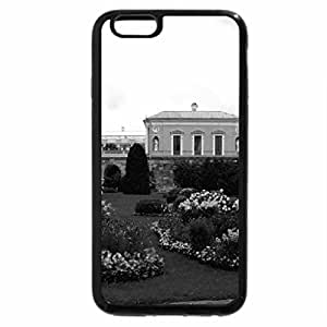 iPhone 6S Case, iPhone 6 Case (Black & White) - Flowers in Lawn
